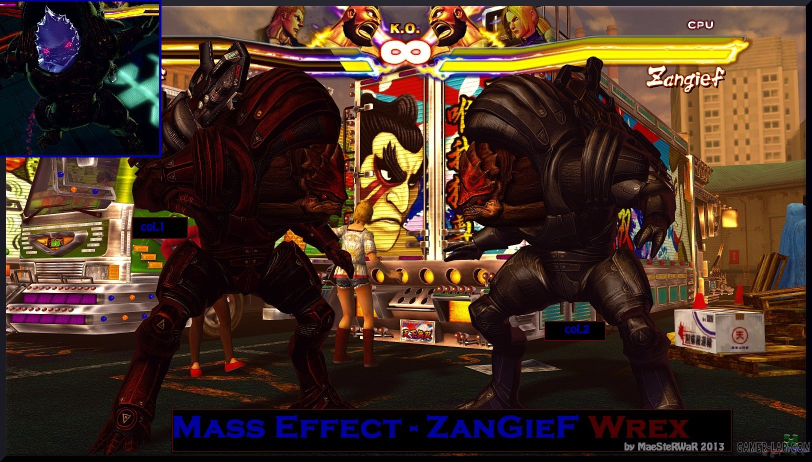Zangief As Urdnot Wrex from Mass Effect