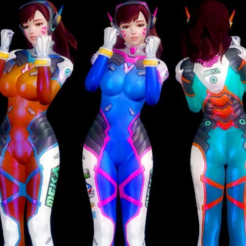 D.VA - costume pack V1.1