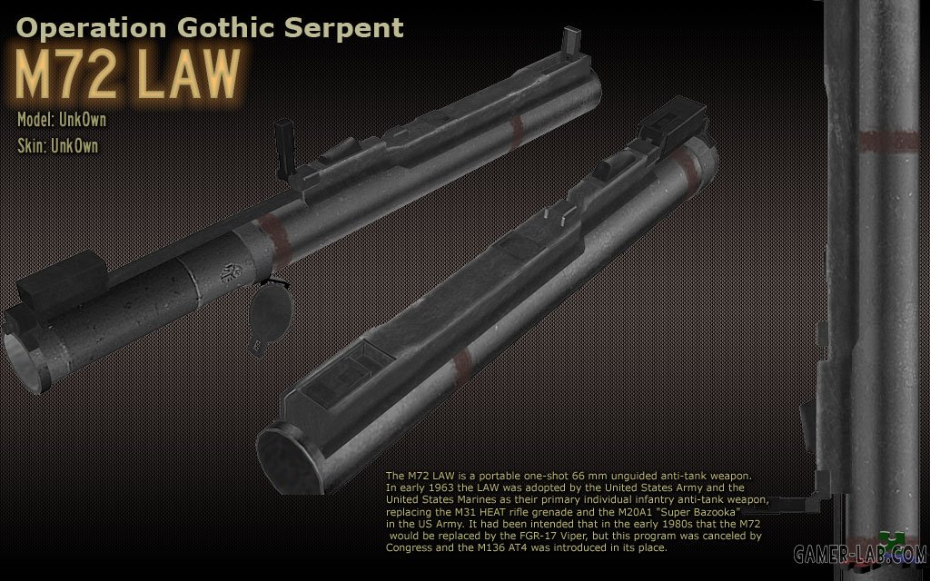 Gothic Serpent Weapons for SvenCoop