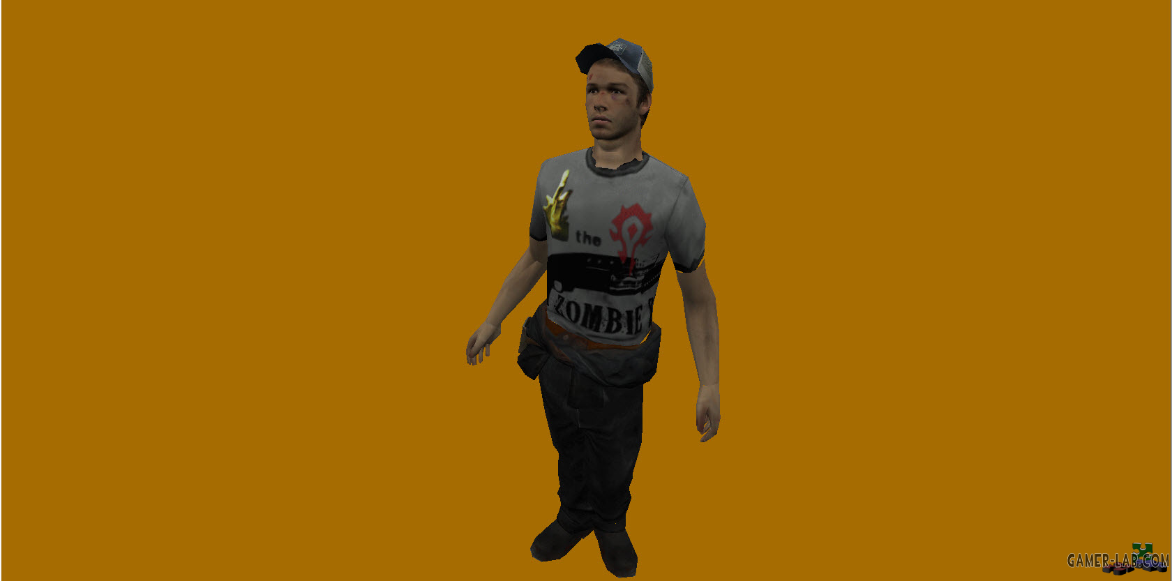 L4D 2 Ellis in new T-shirt