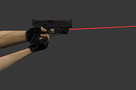 Glock 18 with lasersight