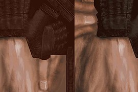 CS S Brown Leather Gloves For CZ