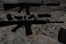 AR-15 with 5 attachments