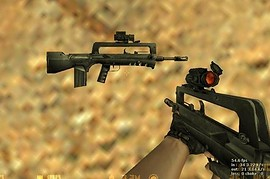 Orange scoped FAMAS F1 by SPNKr