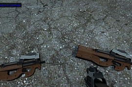 P-90 Reskin with wooden stock