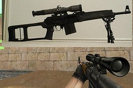 Saiga Sniper assault Rifle gun