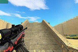 Black AWP - with red dot