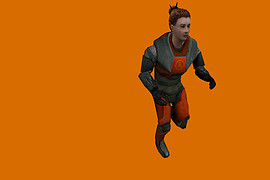 Gina in Red HEV Mark V (HL2)