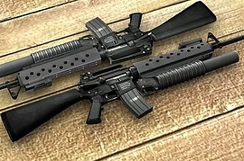 M16A4 + M203 fixed textures