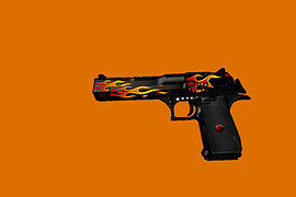 Desert Eagle in flames