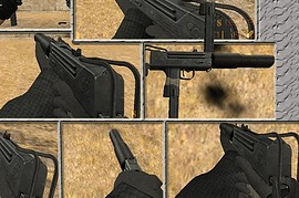 Silenced MAC-10 on mike anims
