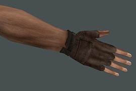 Kimono s Brown Leather Gloves -- CZ ed