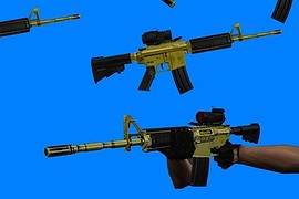 M4a1 black and gold for AUG