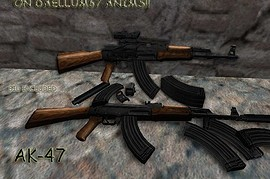 Silenced AK-47 on Daellum67 anims