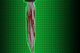 Black bloody CZ knife