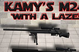 Kamy's M24 w a Green Lazer Do