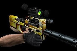 Fire P90 With Green Scope