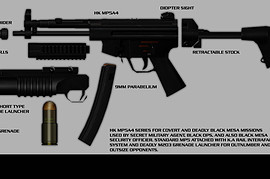 HK MP5A7 with short M203