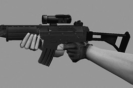 Dark Elfas FN FNC Converted For SG552