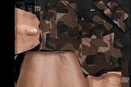 Brown M90 Camo Gloves
