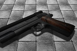 M1911 - Steel  Wooden Grip