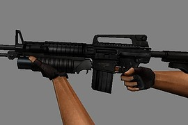M4 SR25K with M203