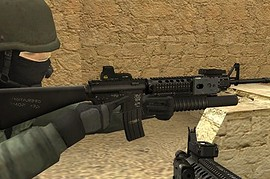 Tactical M16A4 For AUG