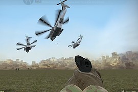 Flying Helicopter start
