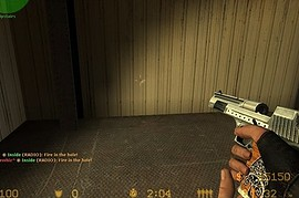 Ace Of Spades Deagle W Wood Grip