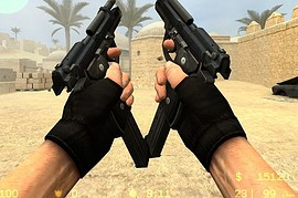 Black Beretta Dual Elites