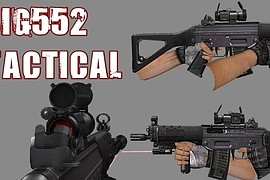 SIG552 Tactical W Working LAM