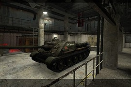 Soviet_Su-100_rep.tiger_tank_snow(_MAP)