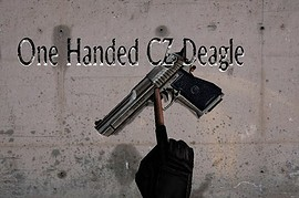 One handed CZ Deagle