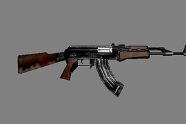 AK with knife