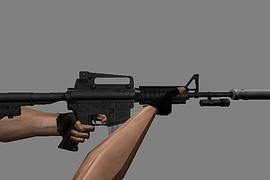 m4a1 with flashlight