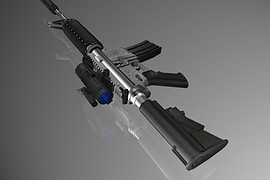 Blue See-Through Aimpoint M4A1
