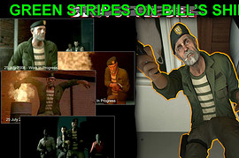 Green Stripes on Bill's Shirt