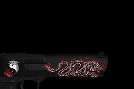 red n black dragon firegold deagle