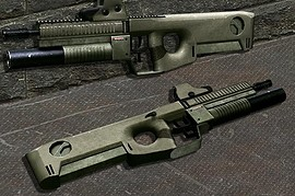 MRC - modular rifle caseless(P90)
