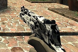 Worn Torn Grey Camo Deagle