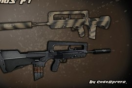 Famas F1 on Ftp anims for M4A1
