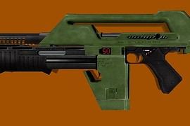 Aliens M41A Impulse Rifle Green HD