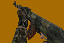 Metro 2033's AK-74, original hands